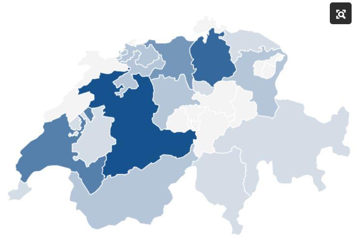 Karte Brauereien Schweiz