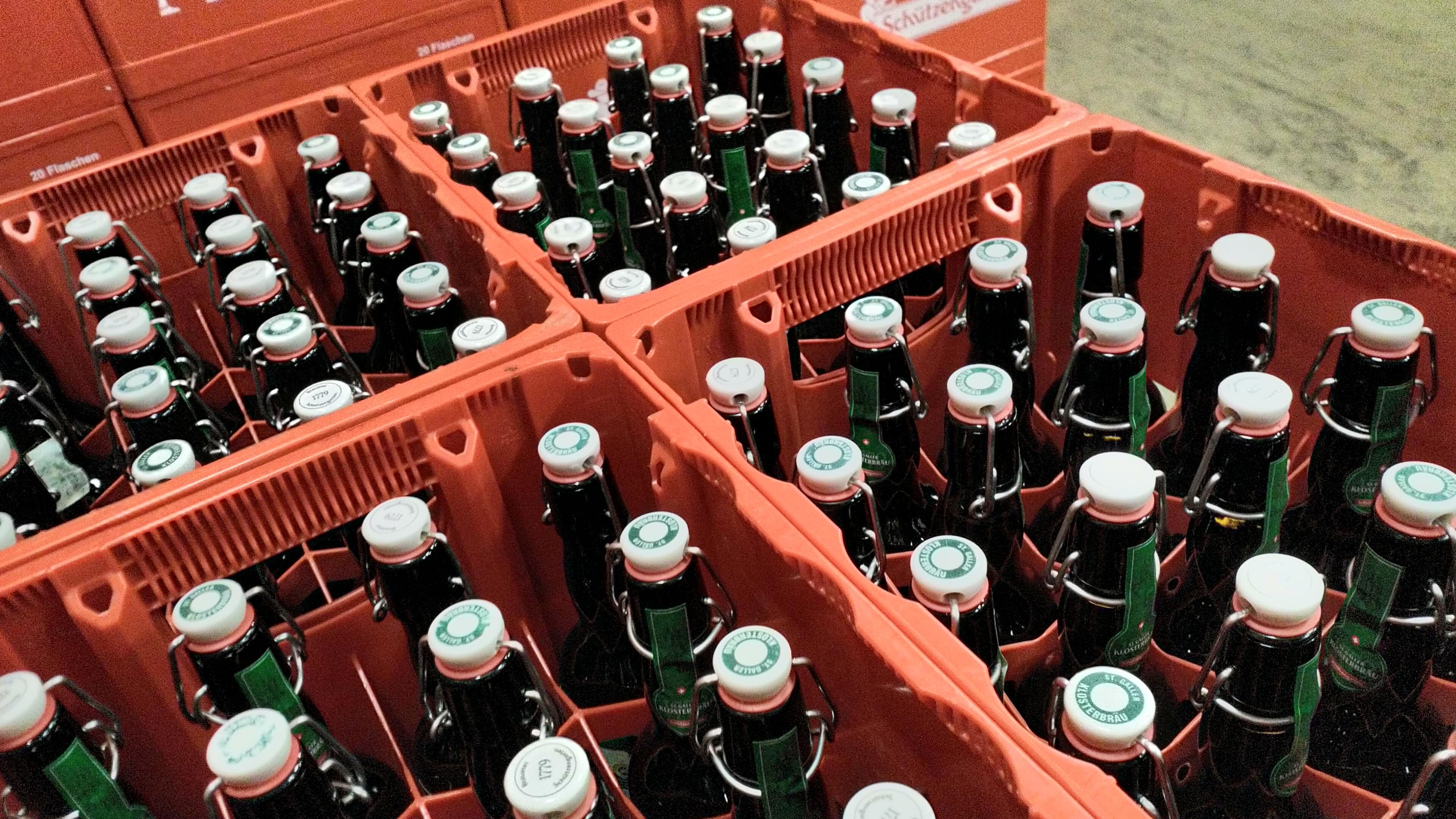 Flaschen der Brauerei Schützenngarten