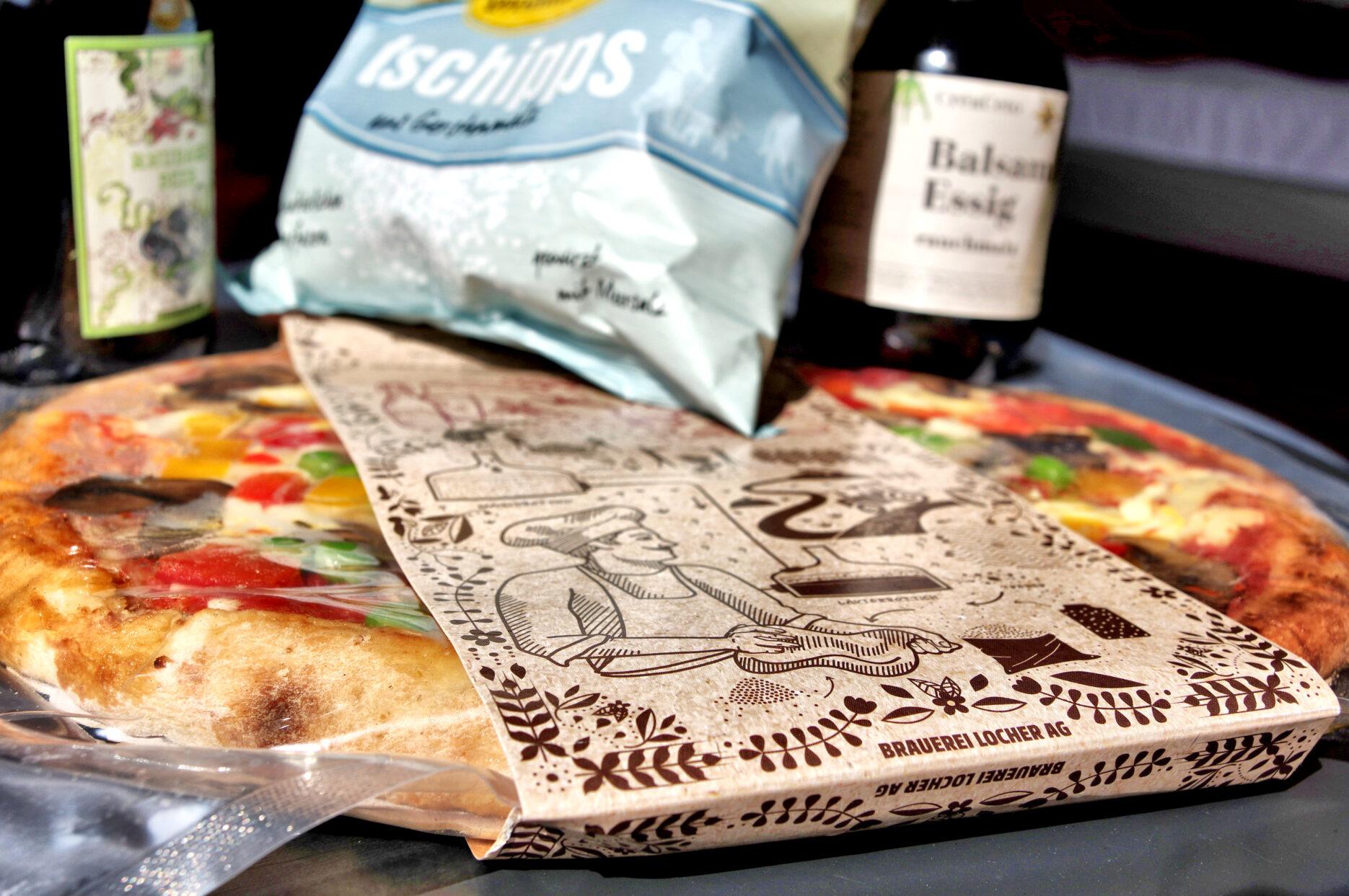 Pizza der Brauerei Locher